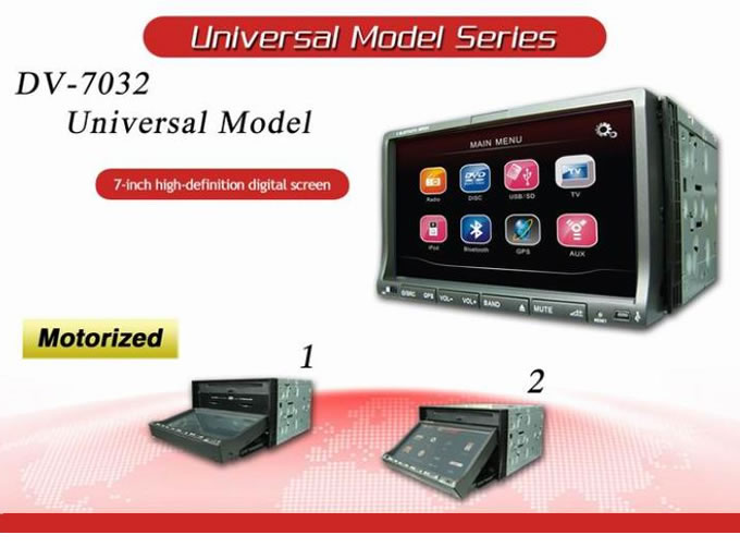 7 double din dvd player
